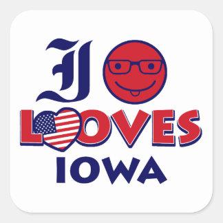 Idaho lovers Design Square Sticker
