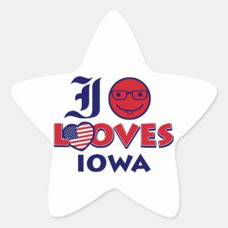 Idaho lovers Design Star Sticker
