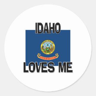 Idaho Loves Me Round Stickers