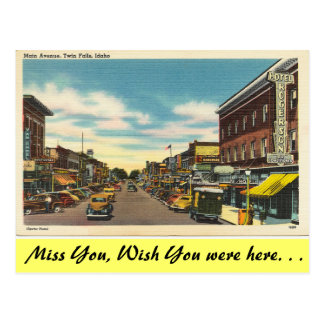 Idaho, Main Avenue, Twin Falls Postcard