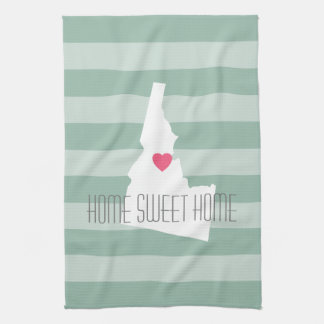 Idaho Map Home State Love with Custom Heart Kitchen Towels