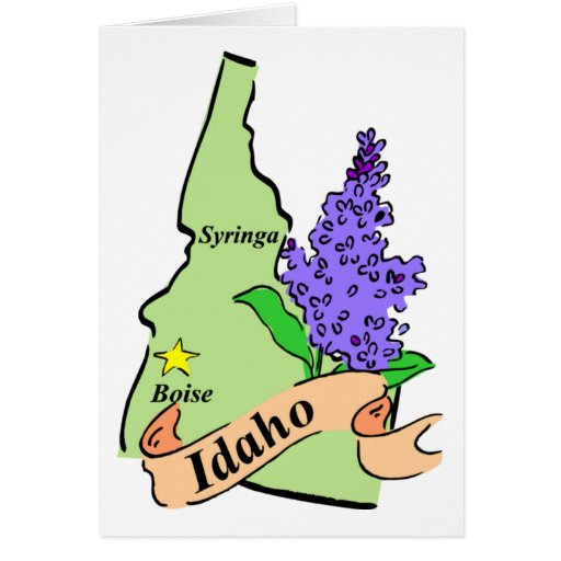 Idaho Map - Pastel Greeting Card