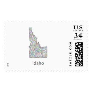 Idaho map postage