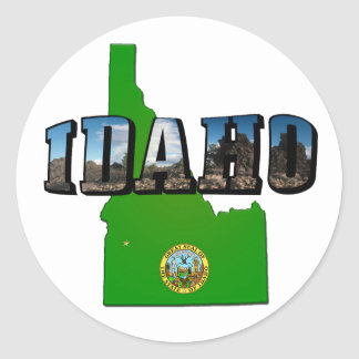 Idaho Map, Seal and Picture Text