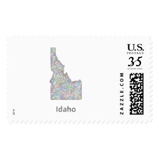 Idaho map stamps