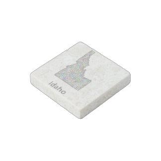Idaho map stone magnet