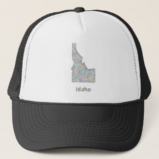 Idaho map trucker hat