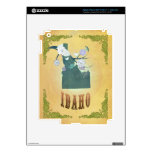 Idaho Map With Lovely Birds Decal For iPad 3