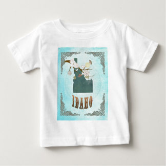 Idaho Map With Lovely Birds Infant T-shirt