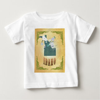 Idaho Map With Lovely Birds T Shirt