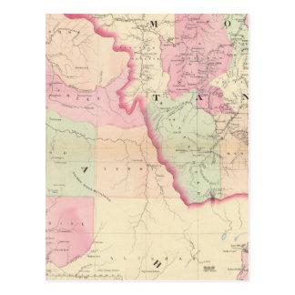 Idaho, Montana west Postcard