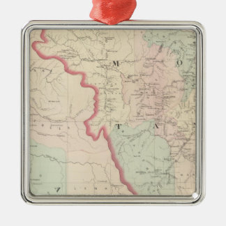 Idaho, Montana Western Portion Metal Ornament