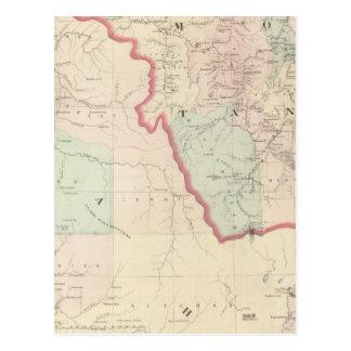 Idaho, Montana Western Portion Postcard