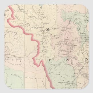 Idaho, Montana Western Portion Square Sticker
