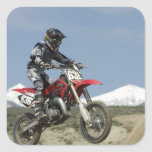 Idaho, motocrós que compite con, el competir con d calcomania cuadradas