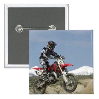 Idaho, motocrós que compite con, el competir con d pin cuadrada 5 cm