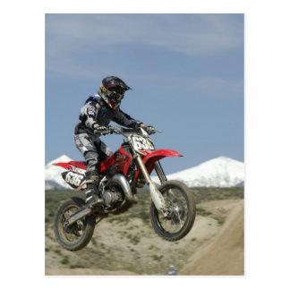 Idaho, motocrós que compite con, el competir con postal