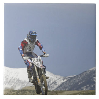 Idaho, Motocross Racing, Motorcycle Racing 2 Large Square Tile