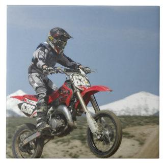 Idaho, Motocross Racing, Motorcycle Racing Large Square Tile