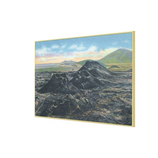Idaho National Park Big Crater Rim Stretched Canvas Print