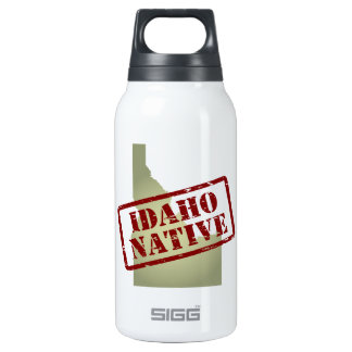 Idaho Native Stamped on Map Insulated Water Bottle
