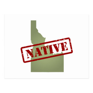 Idaho Native with Idaho Map Postcard