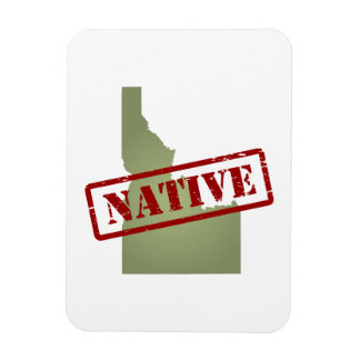 Idaho Native with Idaho Map Vinyl Magnet