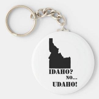 Idaho ningún mapa de Udaho Llavero Redondo Tipo Pin