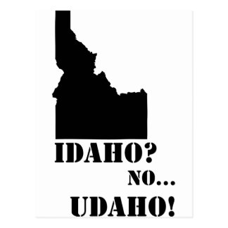 Idaho No Udaho Map Postcards