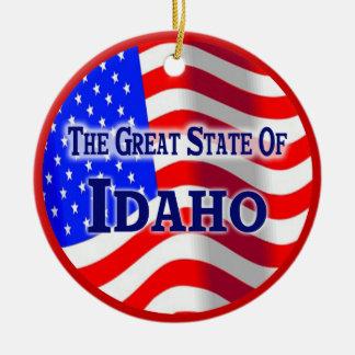 Idaho Double-Sided Ceramic Round Christmas Ornament