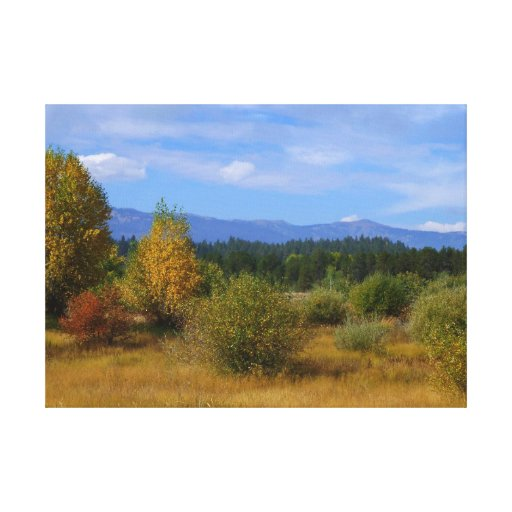 Idaho otoñal lienzo envuelto para galerias