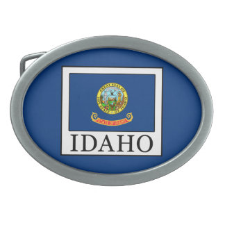 Idaho Oval Belt Buckle