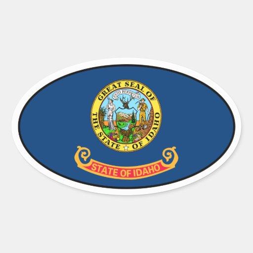 Idaho Oval Flag Sticker