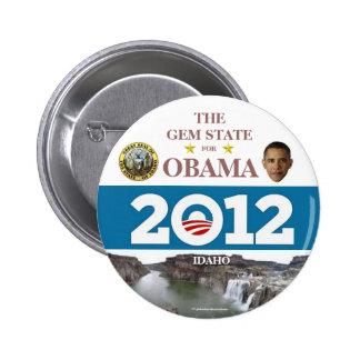 IDAHO para el botón político del pinback de Obama  Pin Redondo De 2 Pulgadas
