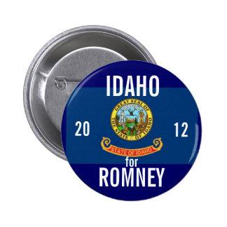 Idaho para Romney 2012 Pin Redondo De 2 Pulgadas