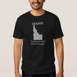 Idaho - patatas y gente blanca camisas