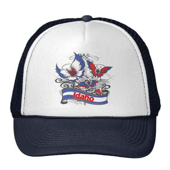 Idaho Patriotism Butterfly Trucker Hat
