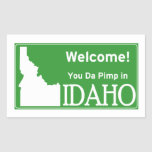 Idaho Pegatina Rectangular