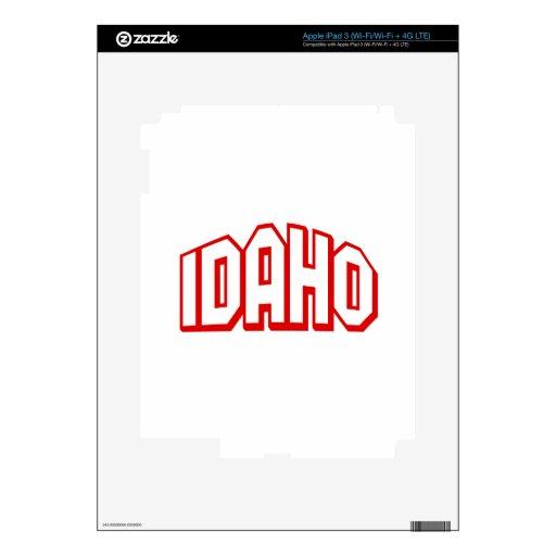 Idaho Pegatinas Skins Para iPad 3