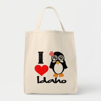 Idaho Penguin - I Love Idaho Canvas Bag