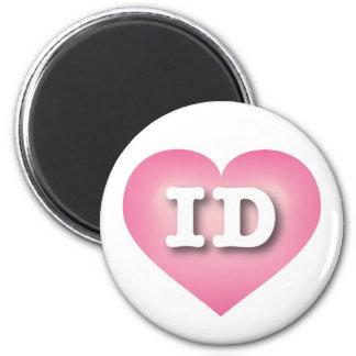 Idaho Pink Fade Heart - Big Love Magnet