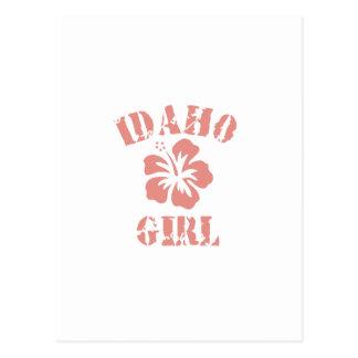 Idaho Pink Girl Postcard
