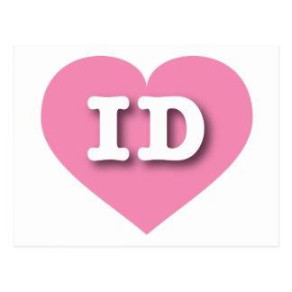 Idaho Pink Heart - Big Love Postcard