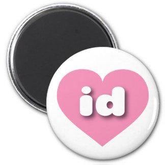 Idaho pink heart - mini love magnet