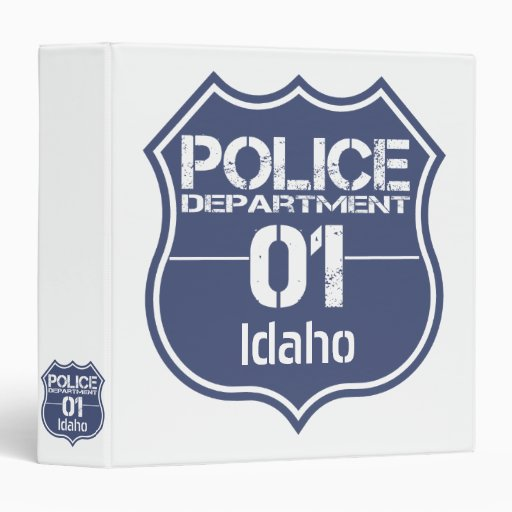 Idaho police department shield 01 binder zazzle for Laporte city police department