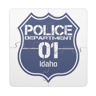 Idaho Police Department Shield 01 Puzzle Coaster