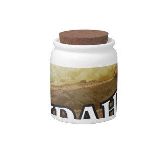 Idaho potato label candy dish