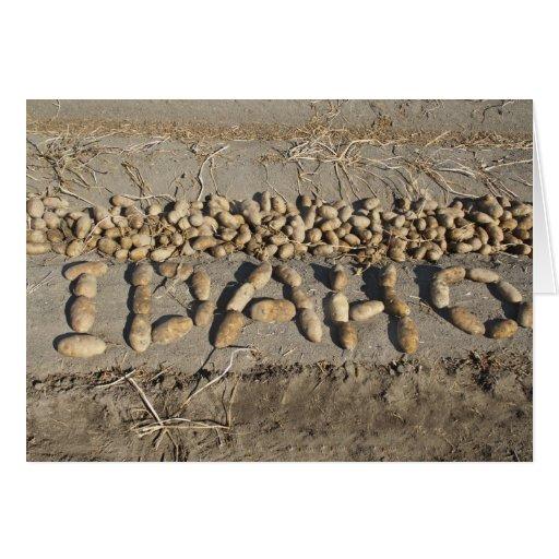 Idaho Potatoes Greeting Card