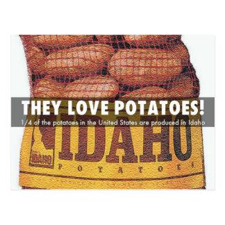 Idaho Potatoes Postcard