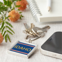 Idaho Premium Square Keychain